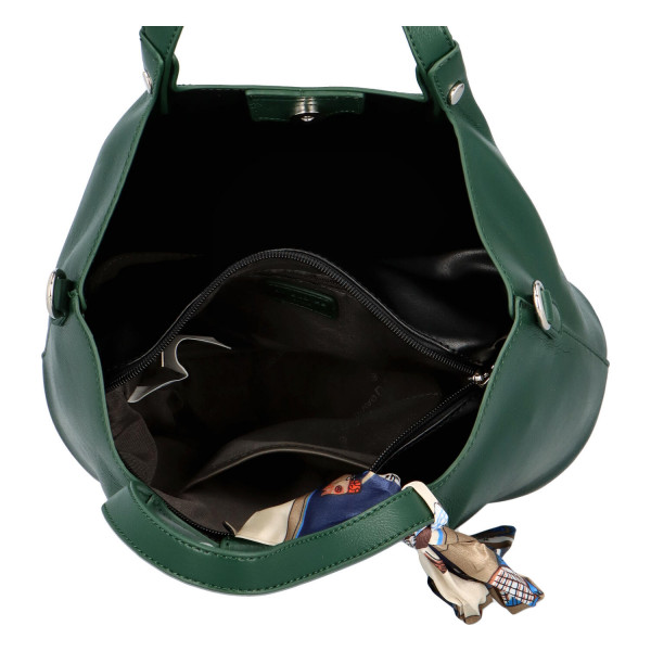 Nadčasová dámská kabelka Gabby, tmavě zelená