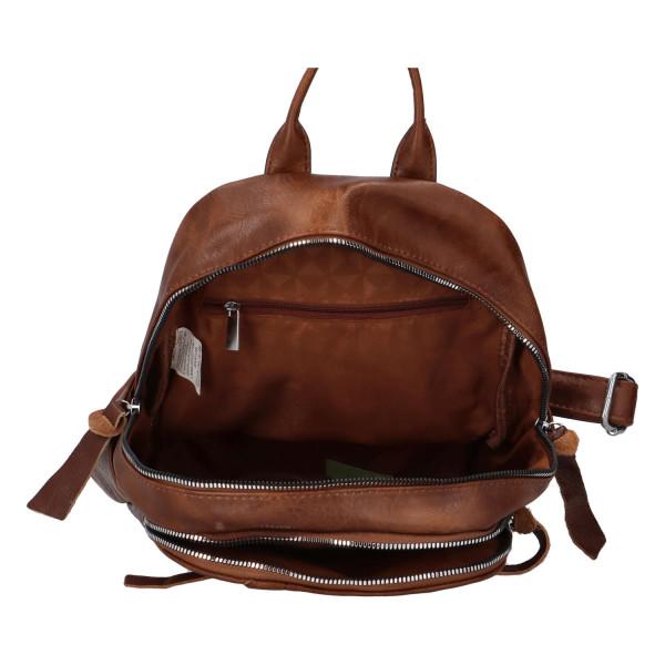 Stylový koženkový batůžek Fredy, tmavě hnědý