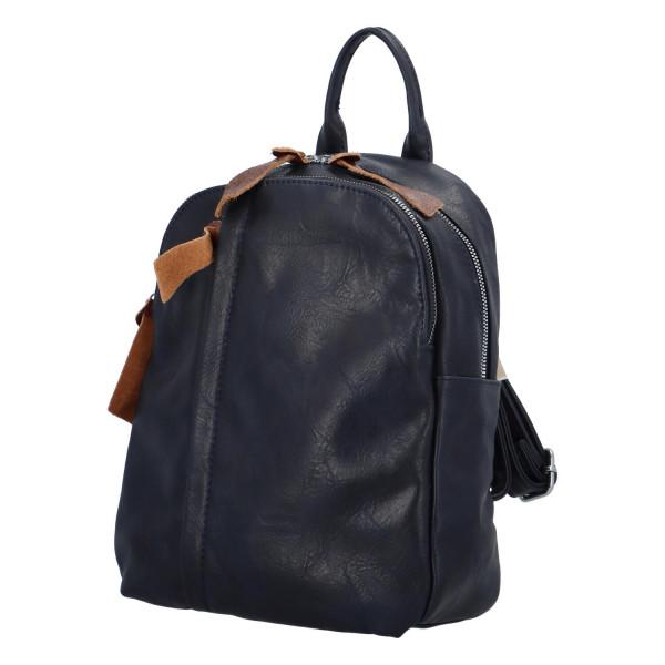 Stylový koženkový batůžek Fredy, modrý
