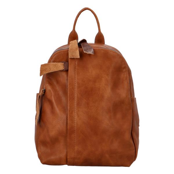 Stylový koženkový batůžek Fredy, hnědý