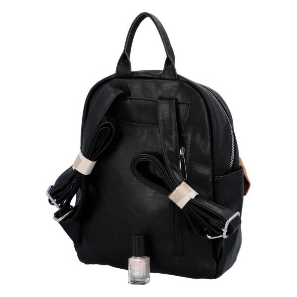 Stylový koženkový batůžek Fredy, černý