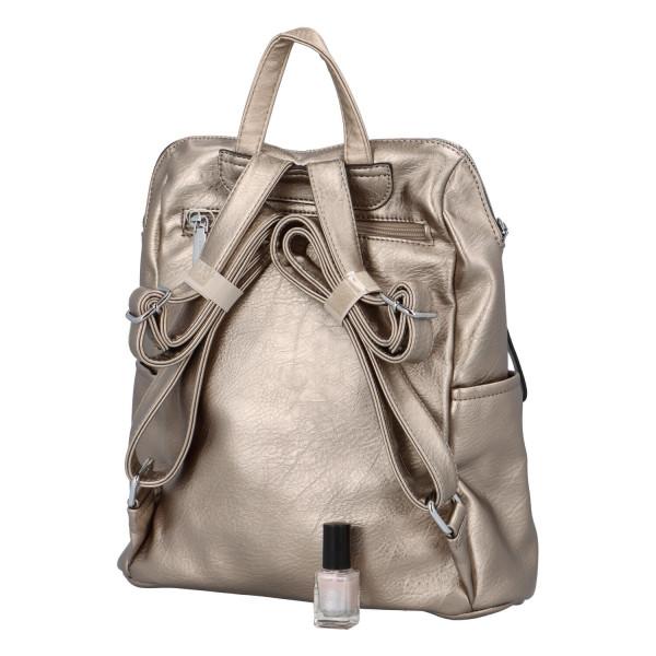 Nadčasový dámský batoh Sara, stříbrný