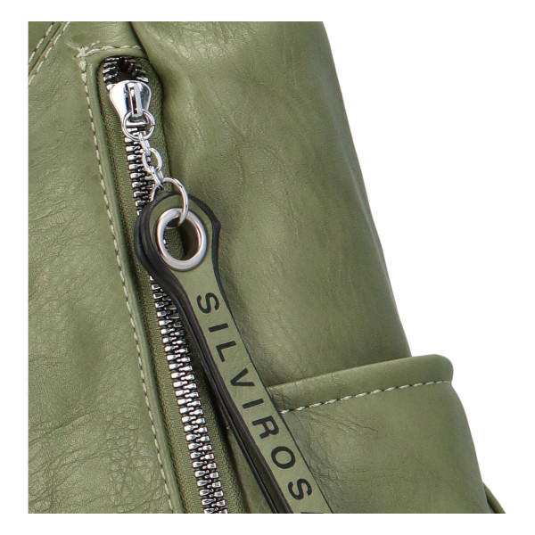 Nadčasový dámský batoh Sara, zelený