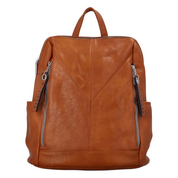 Nadčasový dámský batoh Sara, hnědý