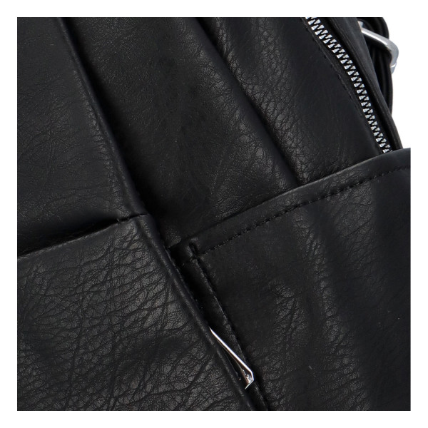 Módní dámský batůžek Sidor, černý