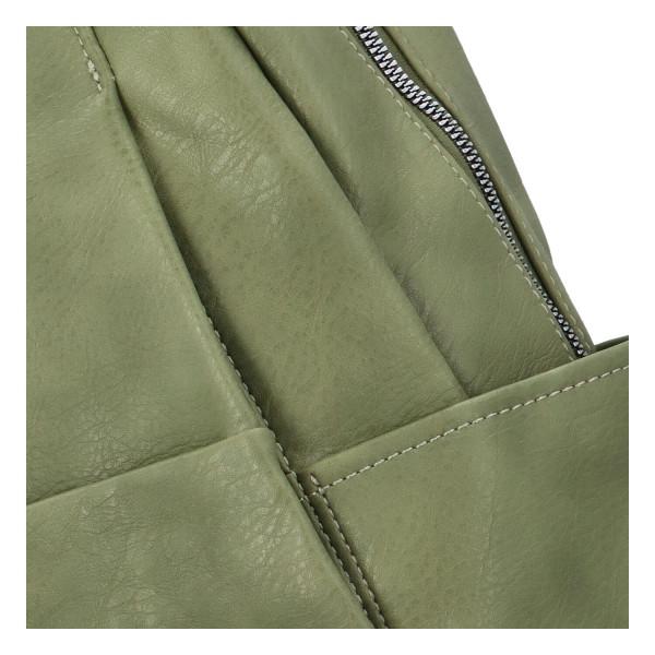 Módní dámský batůžek Sidor, zelený