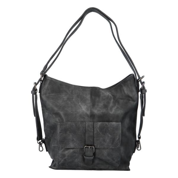 Praktický kabelko-batoh s kapsičkou Jitka, šedý