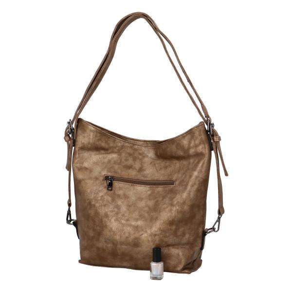 Praktický kabelko-batoh s kapsičkou Jitka, zlatý