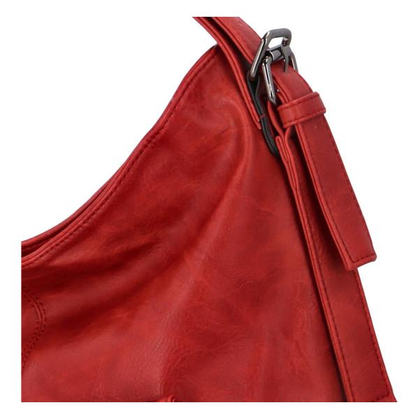 Praktický kabelko-batoh s kapsičkou Jitka, červený