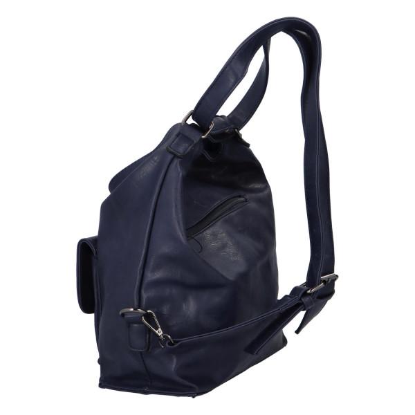 Praktický kabelko-batoh s kapsičkou Jitka, modrý