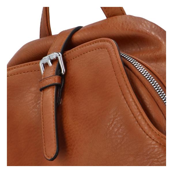 Stylový batůžek Roza, hnědý