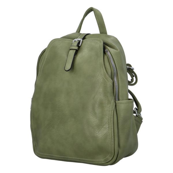 Stylový batůžek Roza, zelený