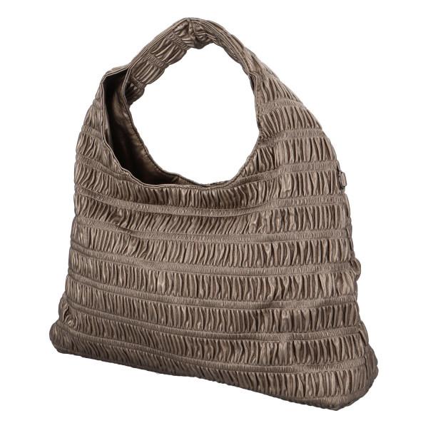 Výrazná dámská kabelka Quido, stříbrná