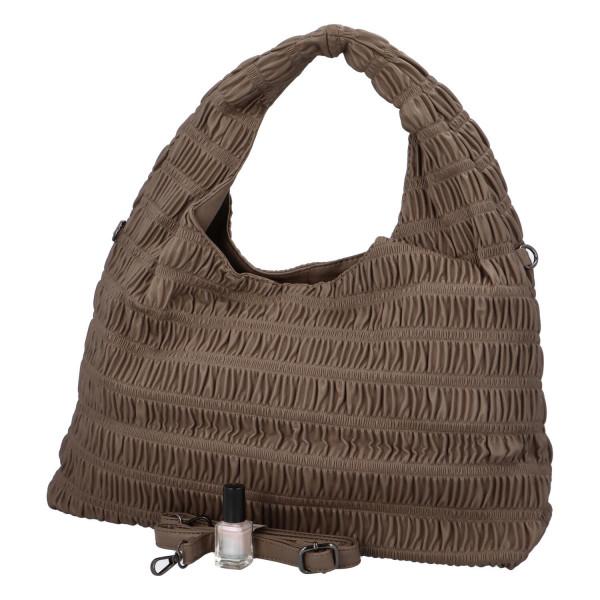 Výrazná dámská kabelka Quido, světle hnědá