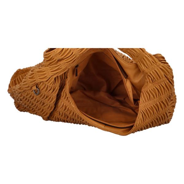 Výrazná dámská kabelka Quido, žlutá
