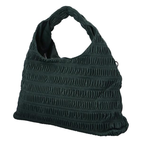 Výrazná dámská kabelka Quido, tmavě zelená