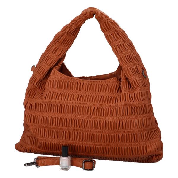 Výrazná dámská kabelka Quido, hnědá
