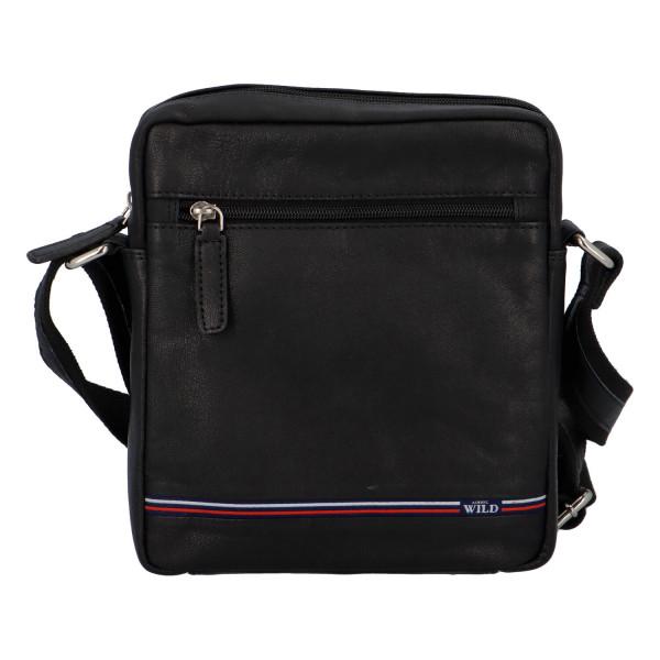 Módní pánská kožená taška Liam černá