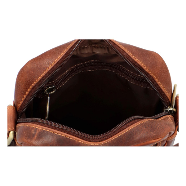 Pánská kožená taška přes rameno Dale, hnědá