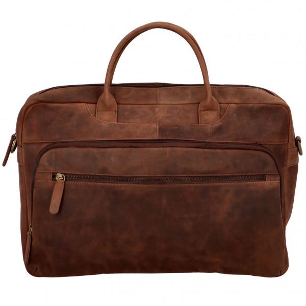 Exkluzivní kožená business pracovní taška Frank