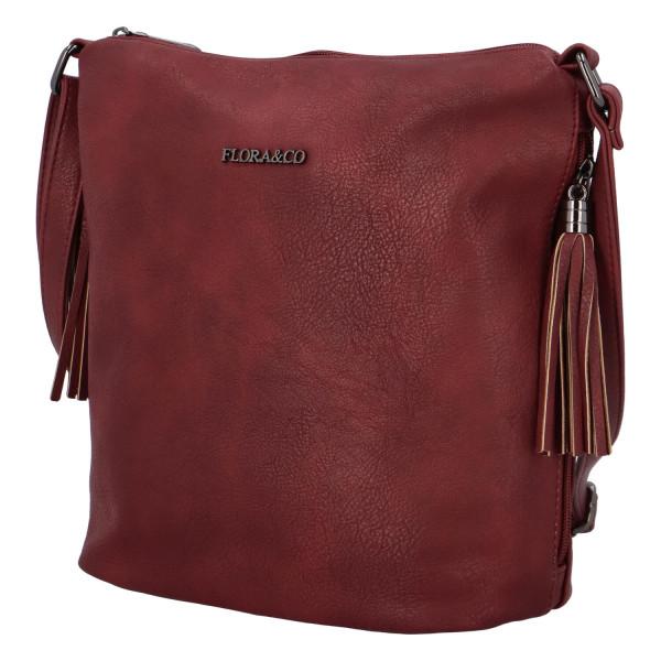 Elegantní dámská kabelka Sindy, bordó