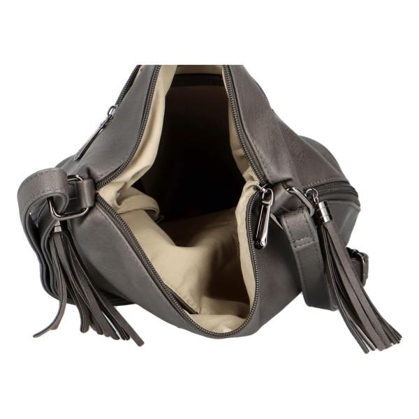 Elegantní dámská kabelka Sindy, šedá