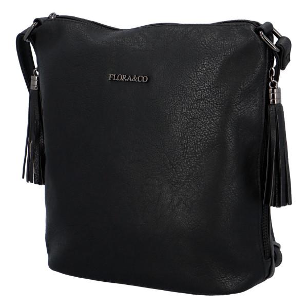 Elegantní dámská kabelka Sindy, černá
