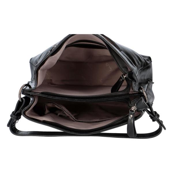 Elegantní dámská kabelka do ruky Aries, černá