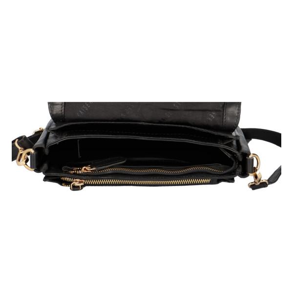 Luxusní kožená crossbody Fres, černá