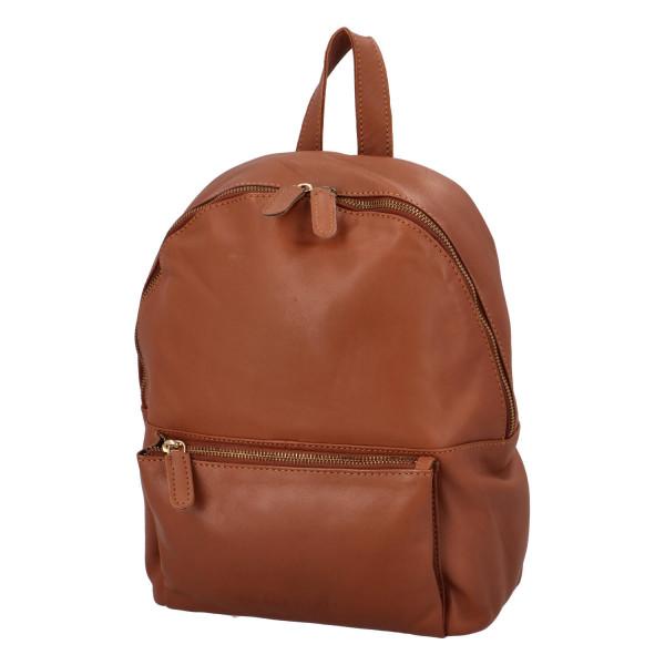 Kožený batoh Sandrino, hnědý