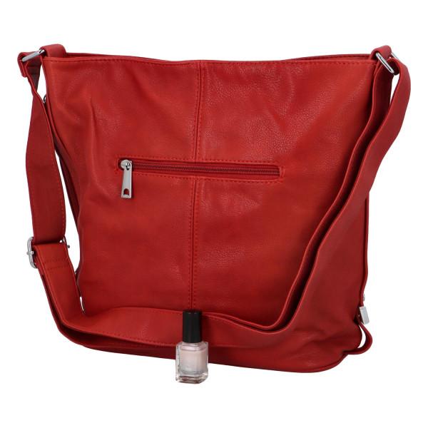 Dámská kabelka Aurelie přes rameno, červená