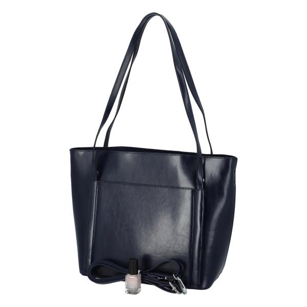 Elegantní stylová kabelka Chiara přes rameno, modrá