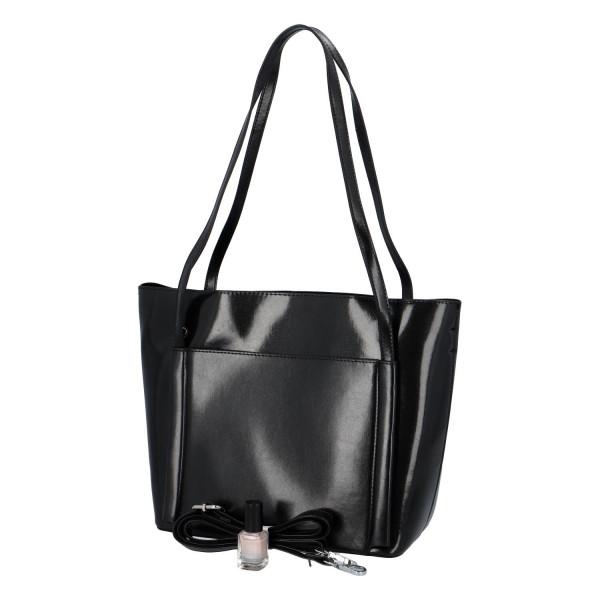 Elegantní stylová kabelka Chiara přes rameno, černá