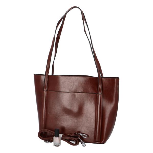 Elegantní stylová kabelka Chiara přes rameno, tmavě hnědá