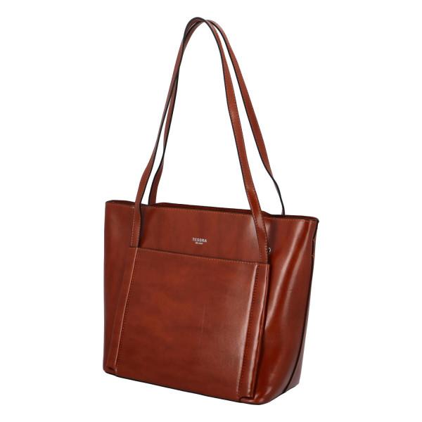 Elegantní stylová kabelka Chiara přes rameno, světle hnědá