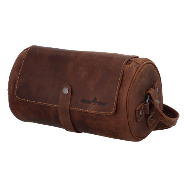 Originální kožená taška Dylan, hnědá