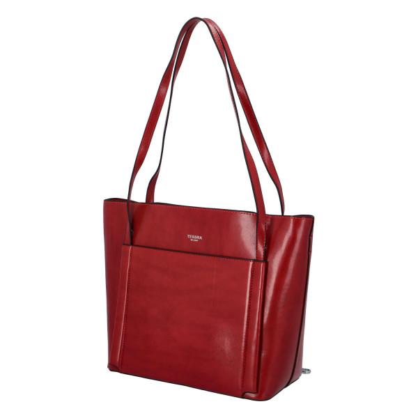 Elegantní stylová kabelka Chiara přes rameno, červená