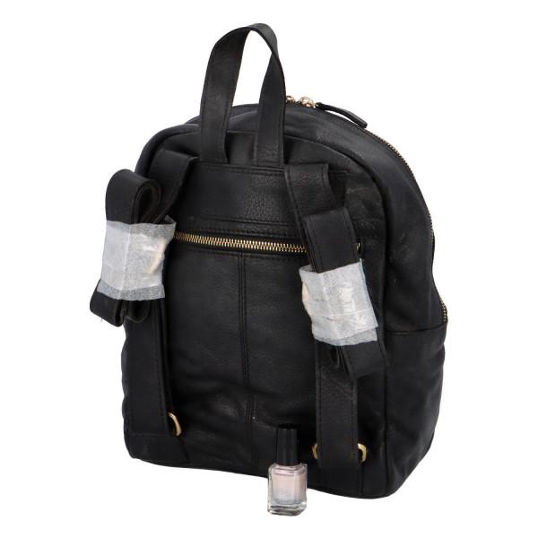 Dámský kožený batůžek Mark, černý