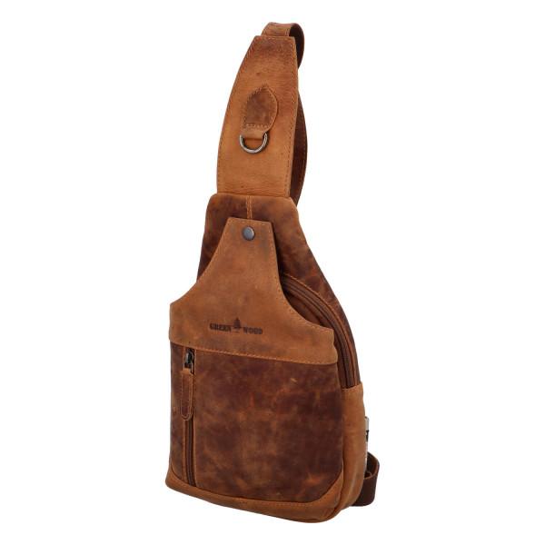 Kožený batůžek Cory , světle hnědá