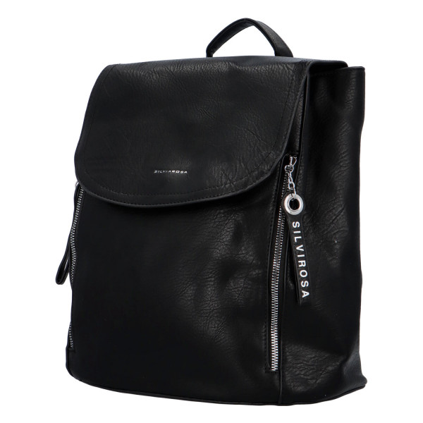 Koženkový batůžek Ellie, černý
