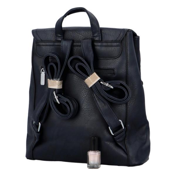 Koženkový batůžek Ellie, modrý