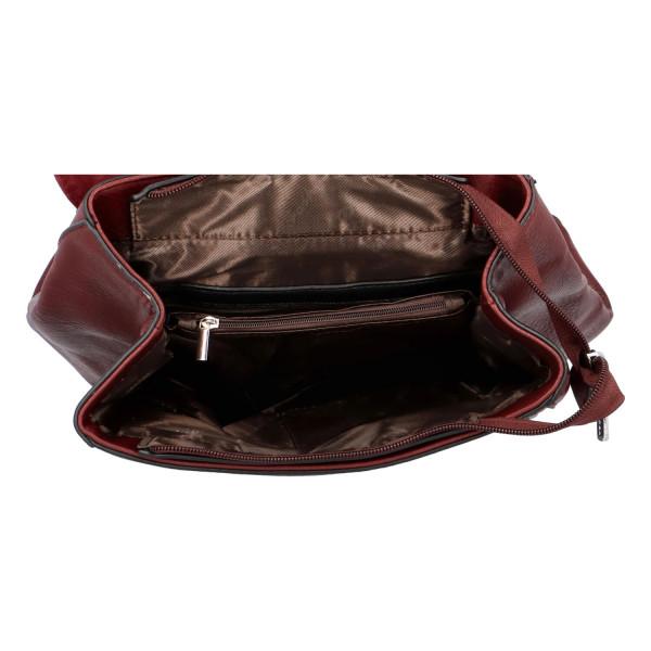Koženkový batůžek Ellie, vínový