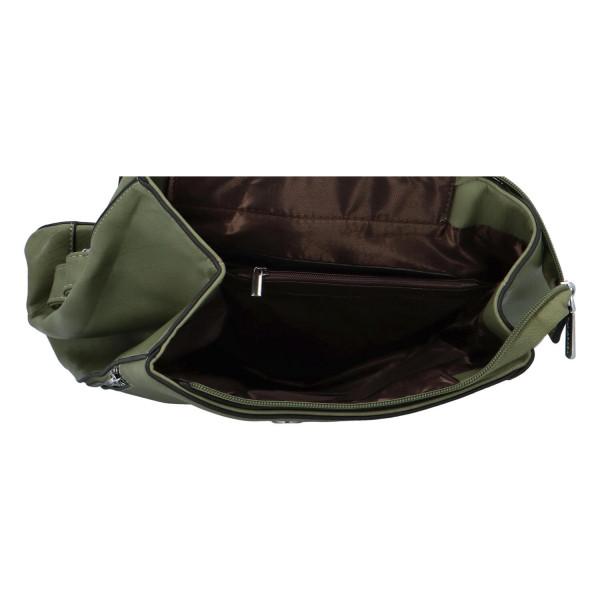 Koženkový batůžek Ellie, zelený