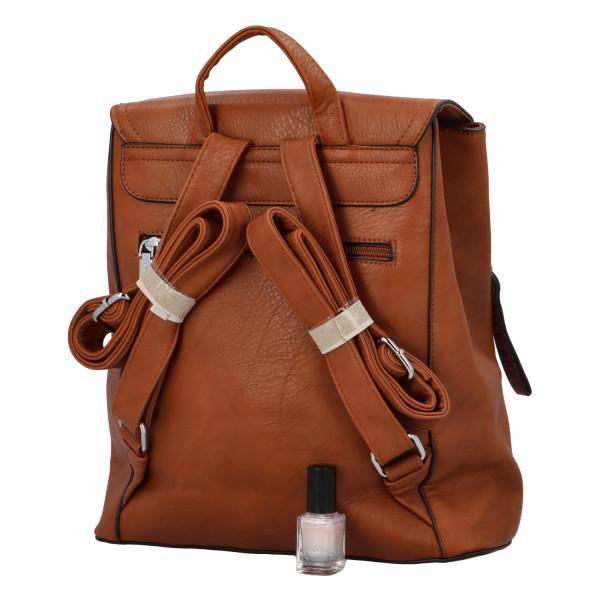 Koženkový batůžek Ellie, hnědý