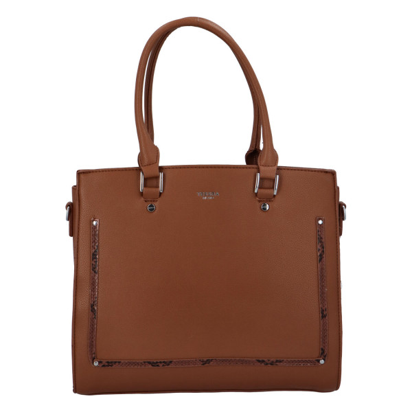 Stylová dámská kabelka Eleni, hnědá