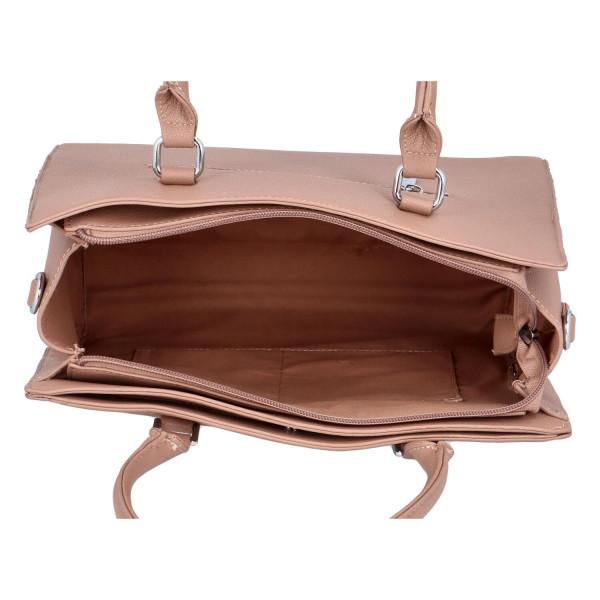 Stylová dámská  kabelka Eleni, krémová