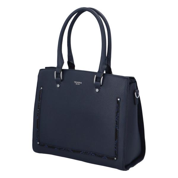 Stylová dámská  kabelka Eleni, modrá
