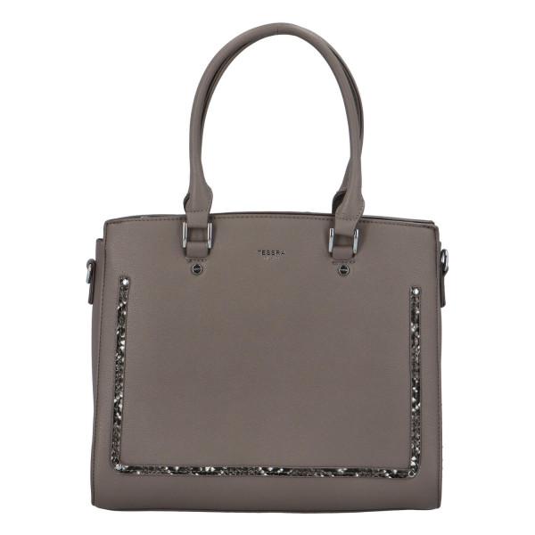 Stylová dámská  kabelka Eleni, šedá
