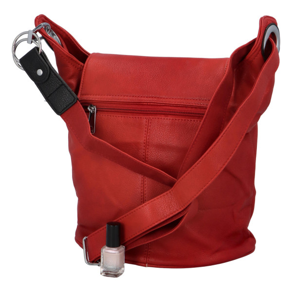 Neobvyklá dámská kabelka Filomenia, červená