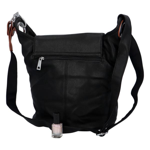 Neobvyklá  dámská kabelka Filomenia, černá